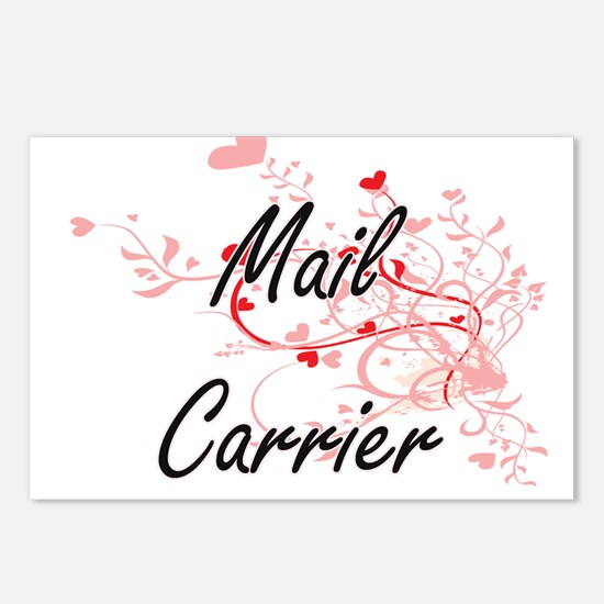 Mail Carrier Artistic Job Postcards (Package of 8)