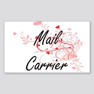 Mail Carrier Artistic Job Design with Hear Sticker