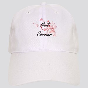 Mail Carrier Artistic Job Design with Hearts Cap