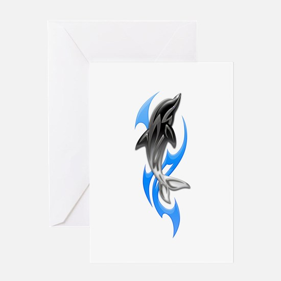 Tribal Dolphin Greeting Card