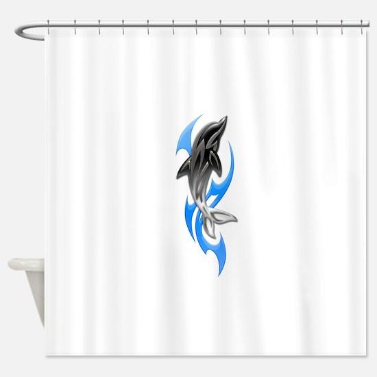 Tribal Dolphin Shower Curtain