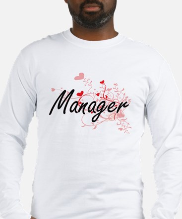 Manager Artistic Job Design wi Long Sleeve T-Shirt