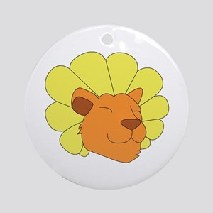 Dandy Lion Head Round Ornament