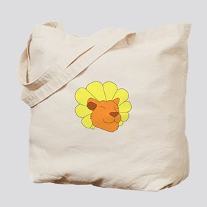 Dandy Lion Head Tote Bag