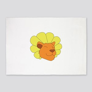 Dandy Lion Head 5'x7'Area Rug