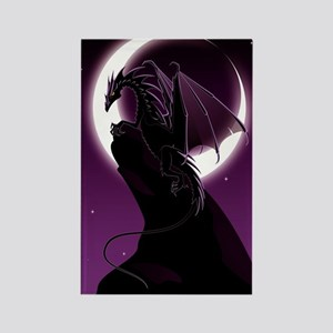 Purple Dragon Rectangle Magnet