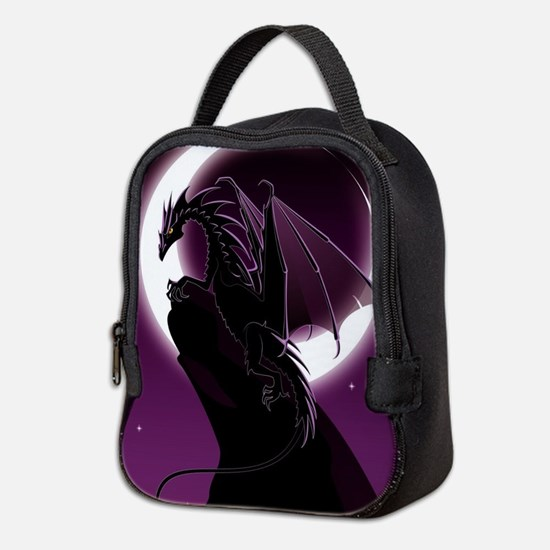 Purple Dragon Neoprene Lunch Bag