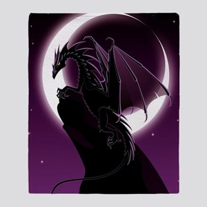 Purple Dragon Throw Blanket