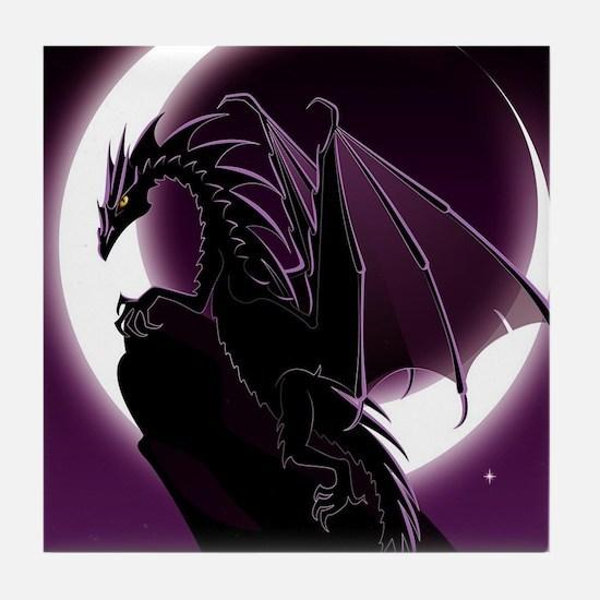 Purple Dragon Tile Coaster