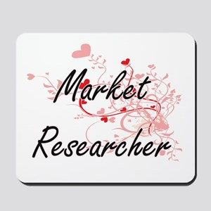 Market Researcher Artistic Job Design wi Mousepad