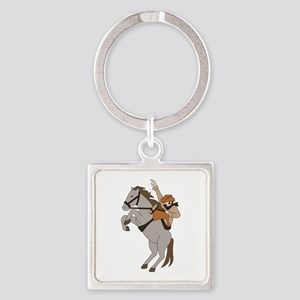 Bucking Bronco Cowboy Keychains
