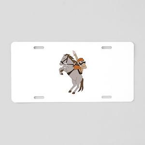 Bucking Bronco Cowboy Aluminum License Plate