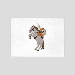 Bucking Bronco Cowboy 5'x7'Area Rug