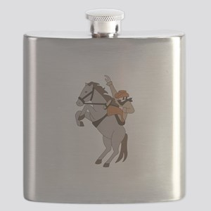 Bucking Bronco Cowboy Flask