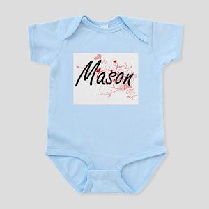 Mason Artistic Job Design with Hearts Body Suit