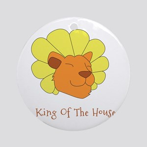 King of the House Round Ornament