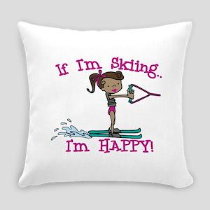 Happy Ski Everyday Pillow