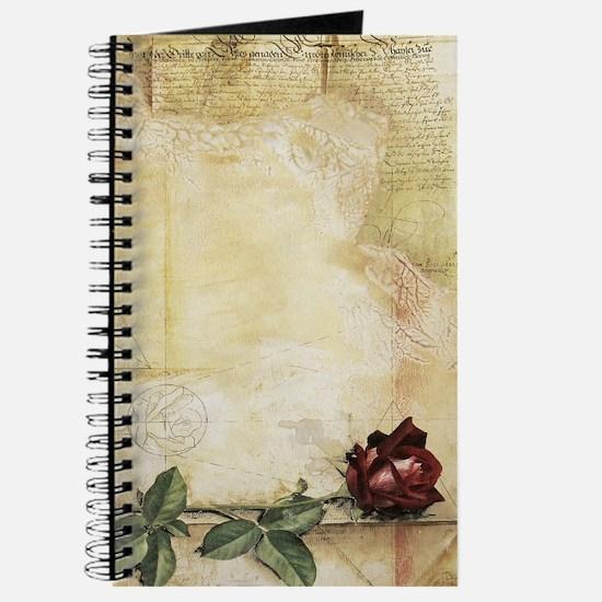 Da Vinci Letter Rose Journal