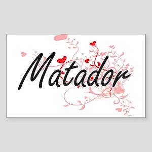Matador Artistic Job Design with Hearts Sticker