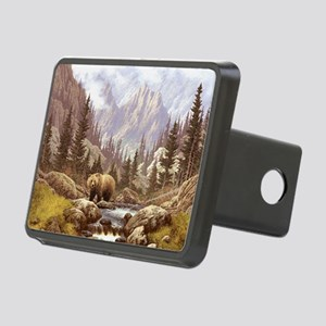Grizzly Bear Landscape Rectangular Hitch Cover