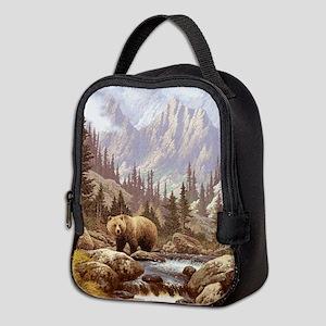 Grizzly Bear Landscape Neoprene Lunch Bag