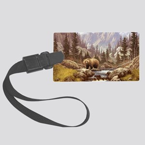 Grizzly Bear Landscape Large Luggage Tag