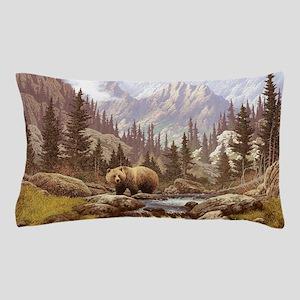Grizzly Bear Landscape Pillow Case