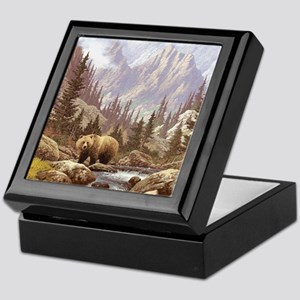 Grizzly Bear Landscape Keepsake Box