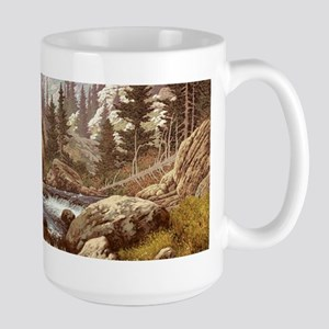 Grizzly Bear Landscape Large Mug
