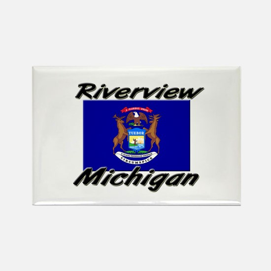 Riverview Michigan Rectangle Magnet