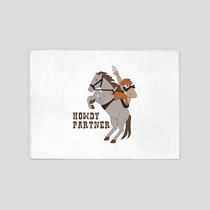 Howdy Partner 5'x7'Area Rug
