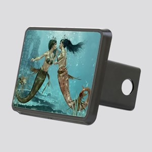 Friendly Mermaids Rectangular Hitch Cover