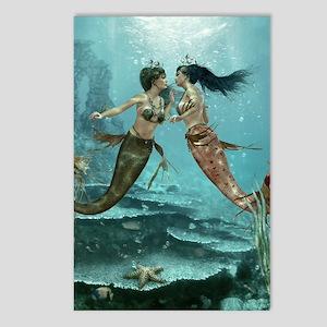Friendly Mermaids Postcards (Package of 8)