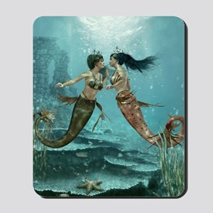 Friendly Mermaids Mousepad