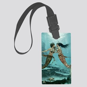 Friendly Mermaids Large Luggage Tag