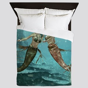 Friendly Mermaids Queen Duvet