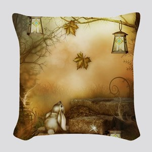 Fairytale Forest Woven Throw Pillow