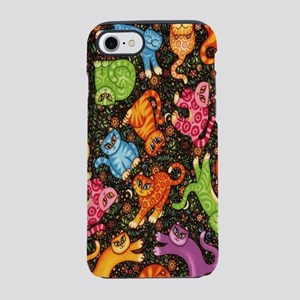 Catty Multi Cat Black iPhone 8/7 Tough Case