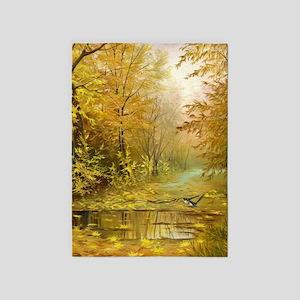 Beautiful Autumn Painting 5'x7'Area Rug
