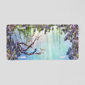 Purple Wisteria Springtime Aluminum License Plate