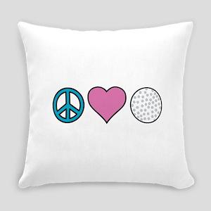 Peace Heart Golf Everyday Pillow