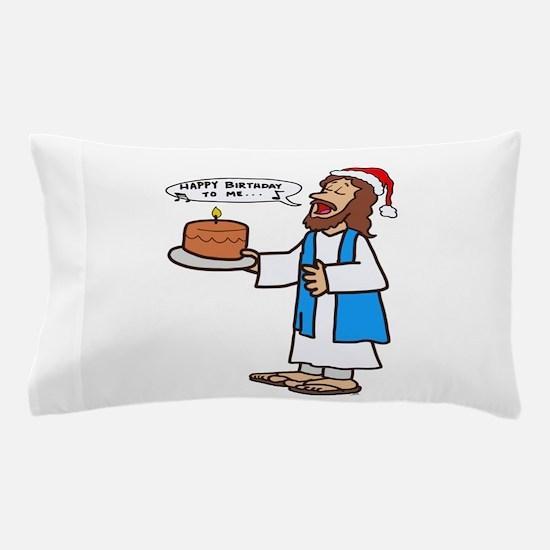 Happy Birthday Jesus Christmas Pillow Case