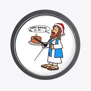 Happy Birthday Jesus Christmas Wall Clock