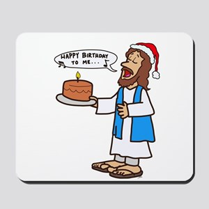 Happy Birthday Jesus Christmas Mousepad