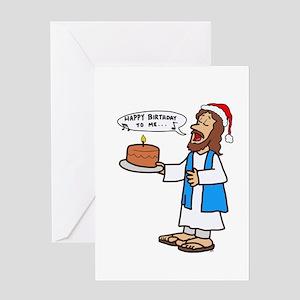 Happy Birthday Jesus Christmas Greeting Cards