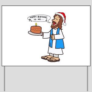 Happy Birthday Jesus Christmas Yard Sign