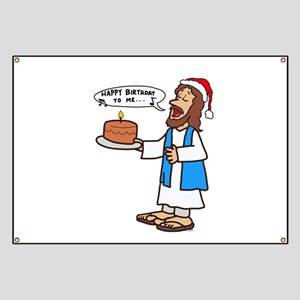 Happy Birthday Jesus Christmas Banner