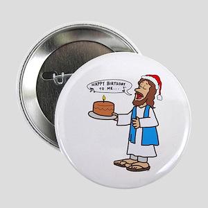 "Happy Birthday Jesus Christmas 2.25"" Button"
