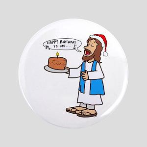 Happy Birthday Jesus Christmas Button