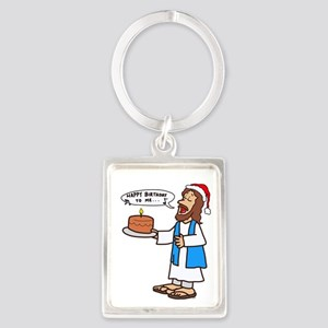 Happy Birthday Jesus Christmas Keychains